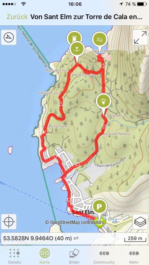 Wanderung von Sant Elm zur Torre de Cala en Basset