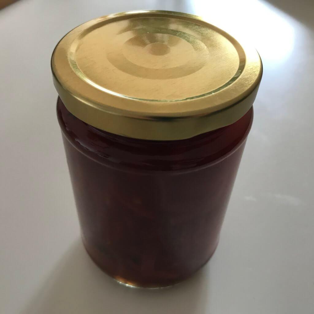 Eingelegte rote Zwiebeln (kurz aufgekocht)
